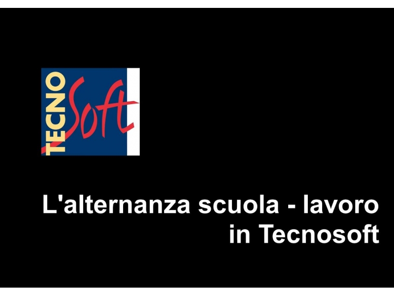 Integrated school - work linked training in Tecnosoft: how we invest in our future Resources