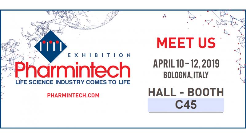 Meet us at Pharmintech 2019, Bologna (Italy) 10-12 april 2019