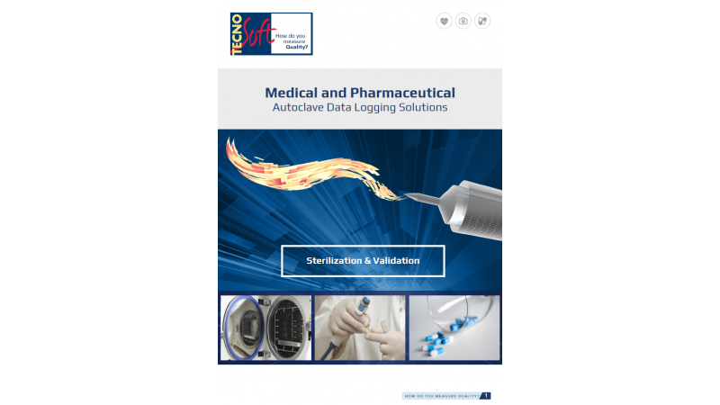 New brochure for autoclave validation systems and sterilisation monitoring in medical and pharmaceutical fields