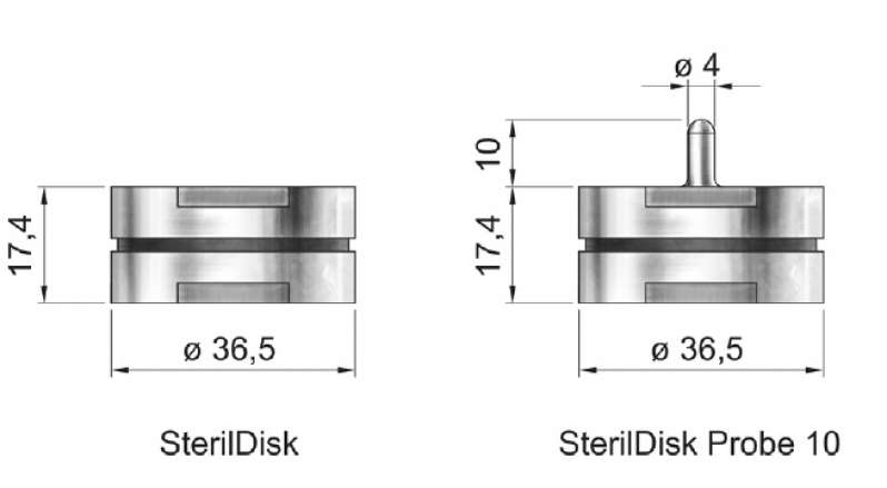 SterilDisk dimensional drawings