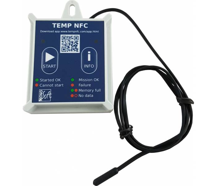 TempNFC RCEA (Rigid Case) with anti-tamper and external probe