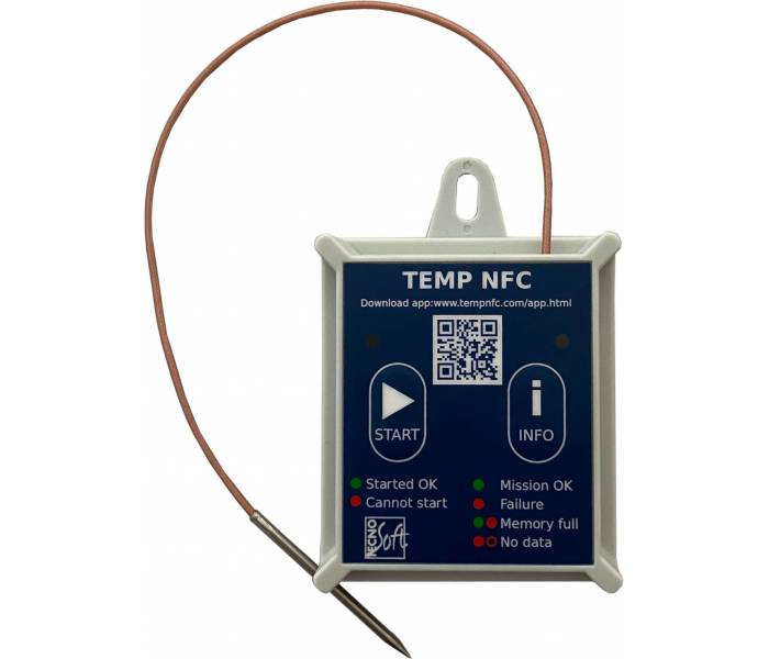 TempNFC RCE -80 (rigid case) with external probe