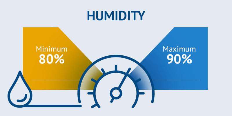 Humidity monitoring cheese